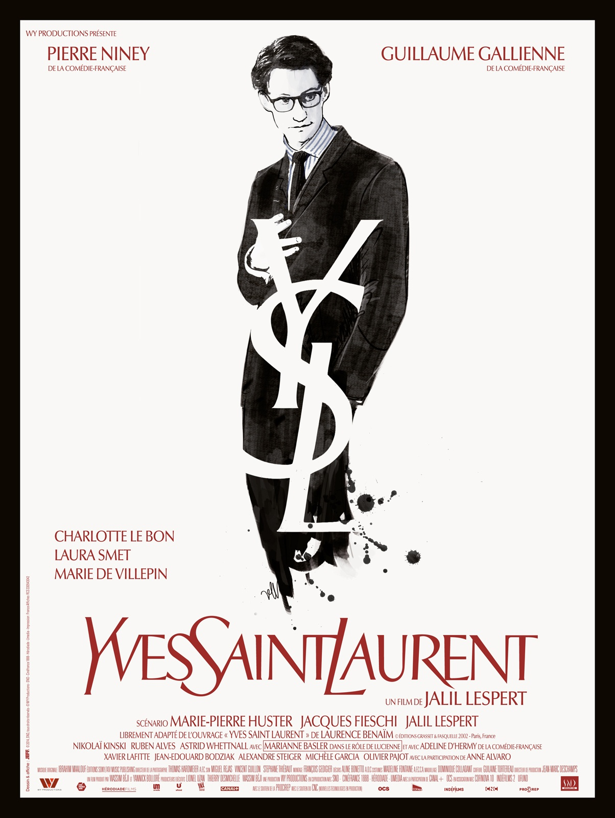 Affiche film Yves saint laurent