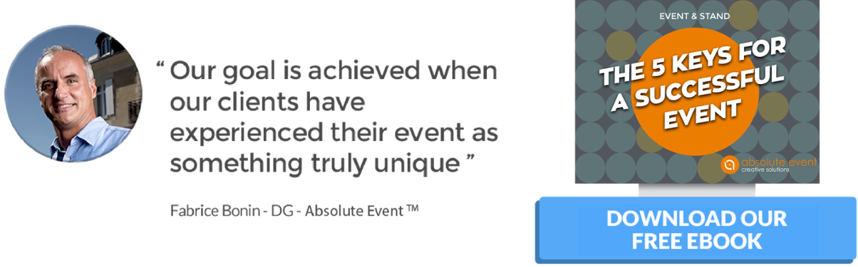 "Download our free ebook ""The 5 keys for a successful event"""